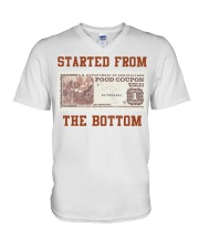 Food stamp started from the bottom shirt V-Neck T-Shirt thumbnail
