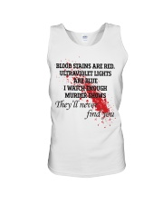 Blood stains are red ultraviolet lights shirt Unisex Tank thumbnail