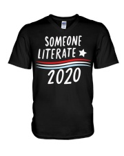 Someone Literate 2020 shirt V-Neck T-Shirt thumbnail