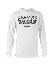 Seniors the one where they were quarantined shirt Long Sleeve Tee thumbnail