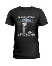 BE KIND TO MY CAT Ladies T-Shirt thumbnail