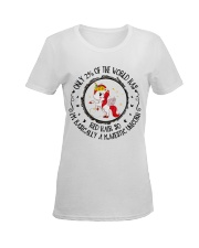 Only of the world Ladies T-Shirt women-premium-crewneck-shirt-front