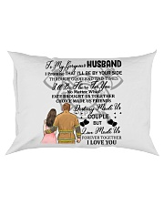 I'll Be By Your Side My Husband Firefighter Pillow Rectangular Pillowcase tile