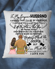 I'll Be By Your Side My Husband Firefighter Pillow Square Pillowcase aos-pillow-square-front-lifestyle-36