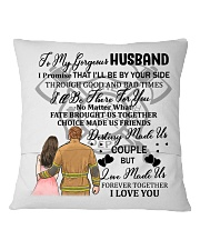 I'll Be By Your Side My Husband Firefighter Pillow Square Pillowcase back