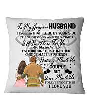 I'll Be By Your Side My Husband Firefighter Pillow Square Pillowcase front