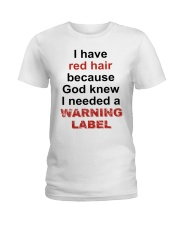 Warning Ladies T-Shirt front