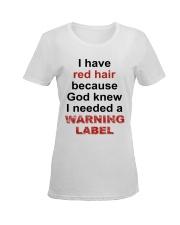 Warning Ladies T-Shirt women-premium-crewneck-shirt-front