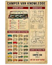 Camper Van Travel Tips Knowledge 11x17 Poster front