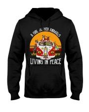 Living in peace Hooded Sweatshirt thumbnail