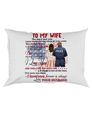 My Wife You Complete Me Better Police Person Rectangular Pillowcase tile