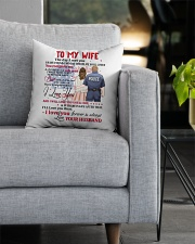 My Wife You Complete Me Better Police Person Square Pillowcase aos-pillow-square-front-lifestyle-05