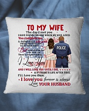 My Wife You Complete Me Better Police Person Square Pillowcase aos-pillow-square-front-lifestyle-36