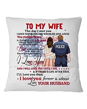 My Wife You Complete Me Better Police Person Square Pillowcase back