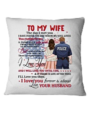 My Wife You Complete Me Better Police Person Square Pillowcase front