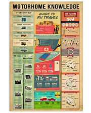 Motorhome Knowledge  11x17 Poster front