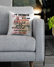 You Are In My Heart Firefighter  Square Pillowcase aos-pillow-square-front-lifestyle-05
