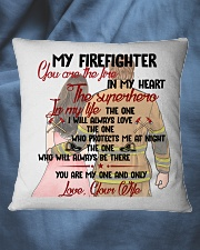You Are In My Heart Firefighter  Square Pillowcase aos-pillow-square-front-lifestyle-36