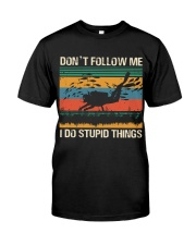 Vintage Scuba Don't Follow Me I Do Stupid Things  Classic T-Shirt front