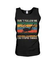 Vintage Scuba Don't Follow Me I Do Stupid Things  Unisex Tank thumbnail