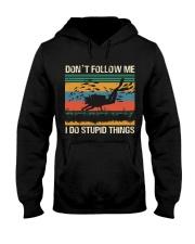 Vintage Scuba Don't Follow Me I Do Stupid Things  Hooded Sweatshirt thumbnail