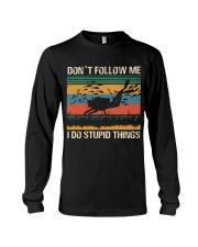 Vintage Scuba Don't Follow Me I Do Stupid Things  Long Sleeve Tee thumbnail