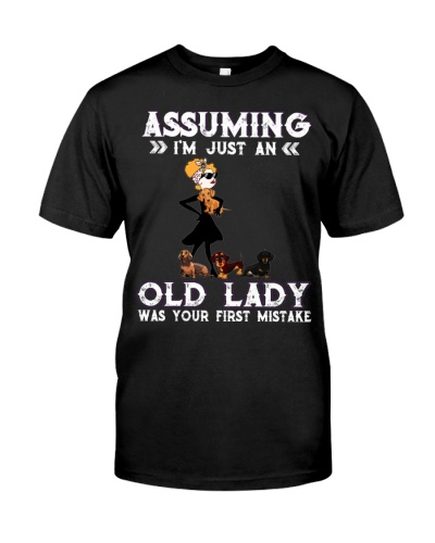 Funny Old Lady Dachshund Shirt