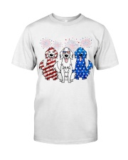 Golden Retriever Independence Day Classic T-Shirt thumbnail