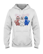 Golden Retriever Independence Day Hooded Sweatshirt thumbnail