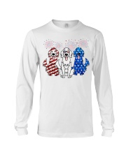 Golden Retriever Independence Day Long Sleeve Tee thumbnail