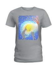 Fetch with man golden Ladies T-Shirt thumbnail