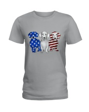 Dachshund Independence Day Ladies T-Shirt tile
