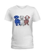 Dachshund Independence Day Ladies T-Shirt front