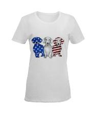 Dachshund Independence Day Ladies T-Shirt women-premium-crewneck-shirt-front