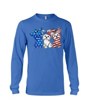 Yorkshire Terrier Independence Day Long Sleeve Tee thumbnail