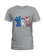 Yorkshire Terrier Independence Day Ladies T-Shirt tile