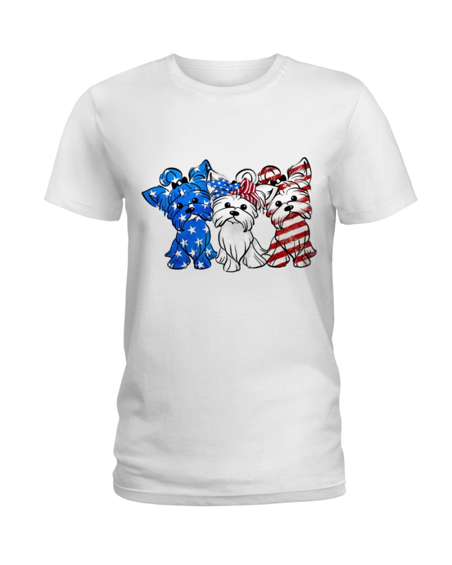 Yorkshire Terrier Independence Day Ladies T-Shirt