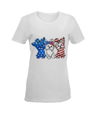 Yorkshire Terrier Independence Day Ladies T-Shirt women-premium-crewneck-shirt-front