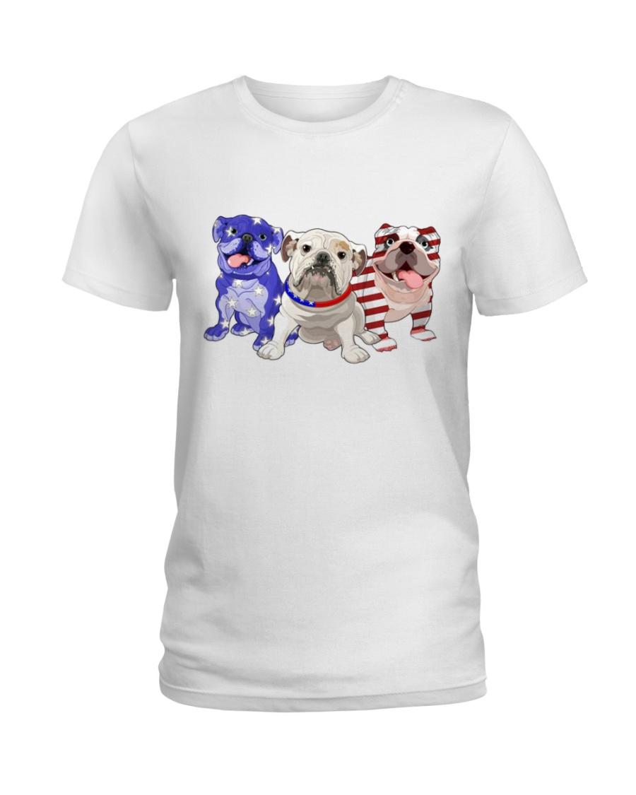 Bulldog Independence Day Ladies T-Shirt