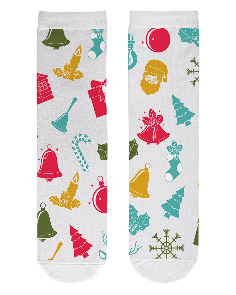 christmas Crew Length Socks