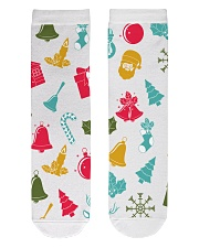 christmas Crew Length Socks front