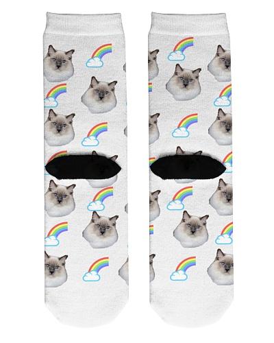 Cat Socks Cute Cat Face On Personalized socks