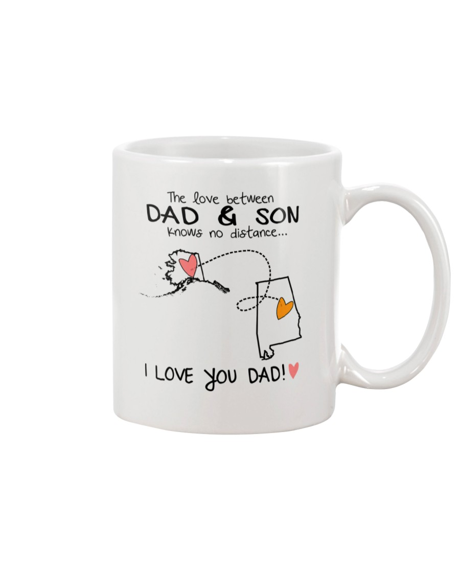 02 01 AK AL Alaska Alabama B2 Father Son Mug Mug