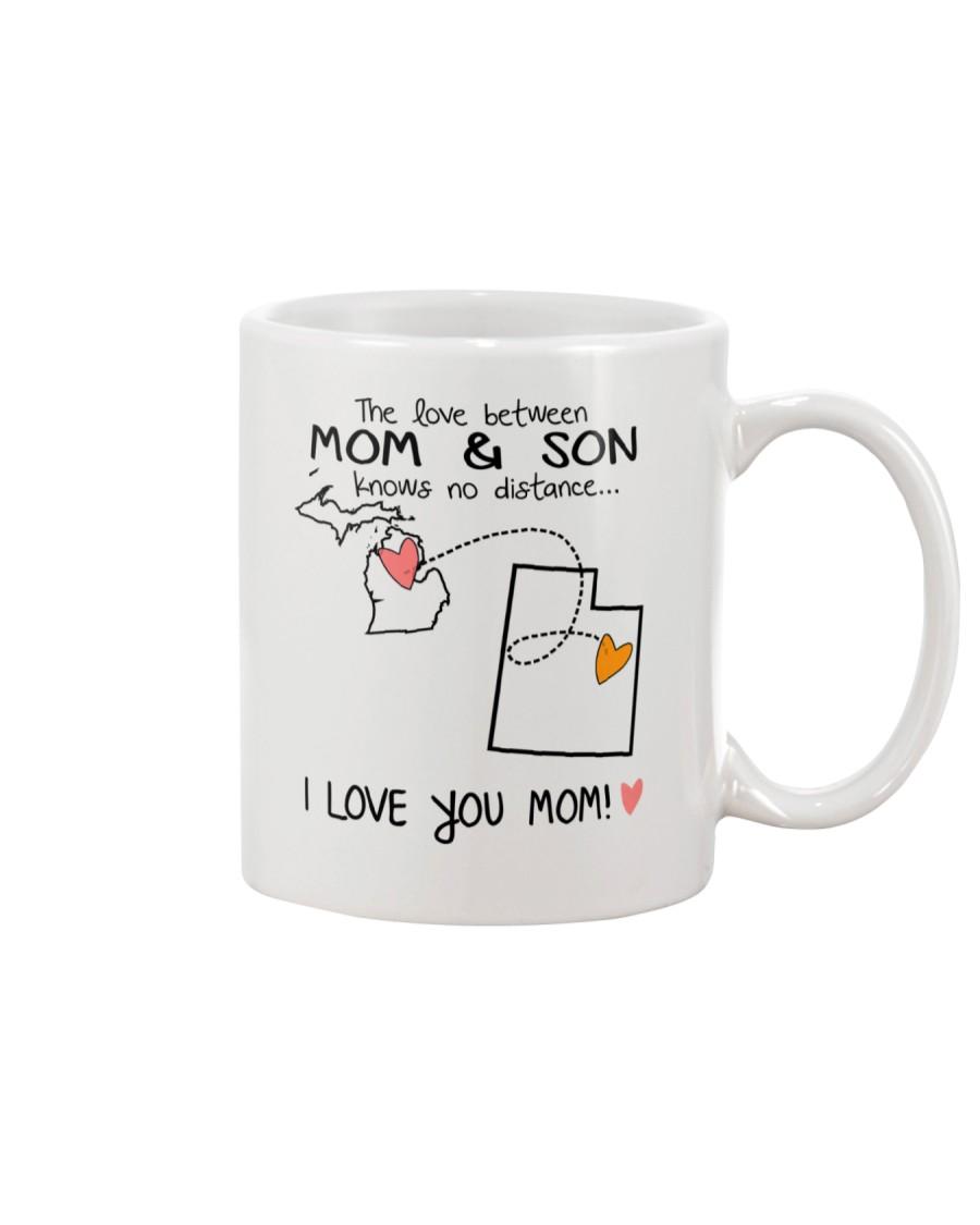 22 44 MI UT Michigan Utah Mom and Son D1 Mug