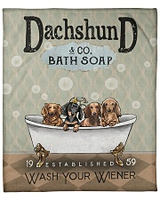 Dachshund Wash Dr Fleece Blanket tile