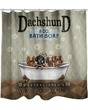 Dachshund Wash Dr Shower Curtain thumbnail