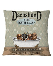 Dachshund Wash Dr Square Pillowcase tile