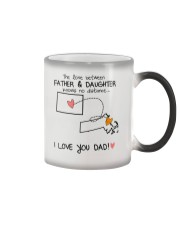 06 21 CO MA Colorado Massachusetts Father Daughter Color Changing Mug tile