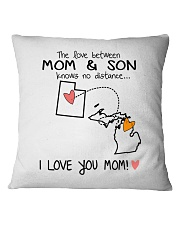 44 22 UT MI Utah Michigan PMS6 Mom Son Square Pillowcase tile