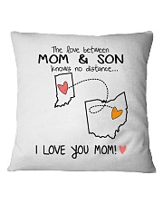 14 35 IN OH Indiana Ohio PMS6 Mom Son Square Pillowcase thumbnail
